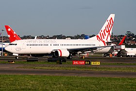 Virgin Australia (VH-YFC) Boeing 737-81D at Sydney Airport.jpg