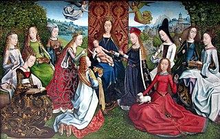 La Sainte Vierge et l'Enfant Jésus entourés de