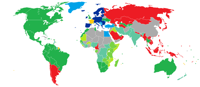 Visa Requirements For French Citizens Wikipedia