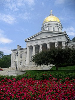 The Vermont State House, the third on this site, was completed in 1859