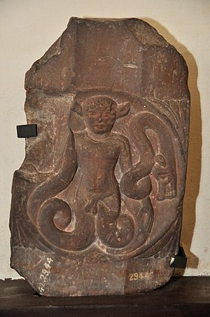 Anguiped - Indian anguiped, a Vyala Yaksha.