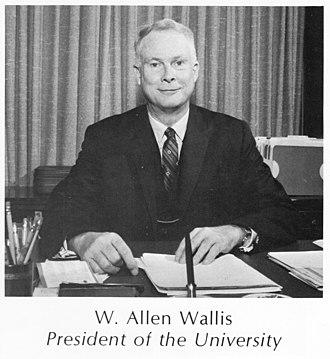 W. Allen Wallis - Image: W Allen Wallis 1970