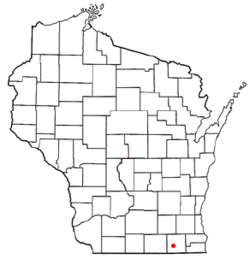 Location of Delavan, Wisconsin