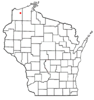 Location of Lake Nebagamon, Wisconsin