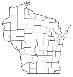 Location of Lyndon Station, Wisconsin