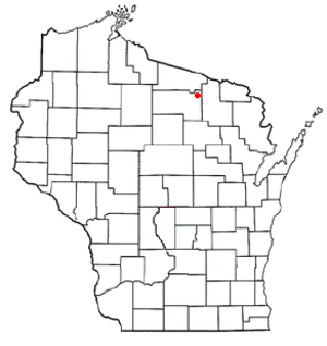 Three Lakes, Wisconsin - Image: WI Map doton Three Lakes