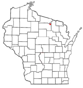 Three Lakes, Wisconsin - Image: WI Map doton Three Lakes