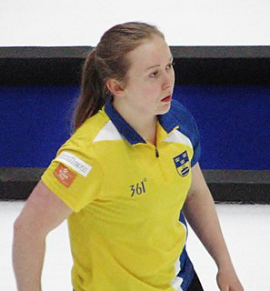 Jennie Wåhlin Swedish female curler