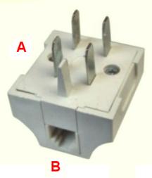 WT-4 %26 RJ11 telephone plug