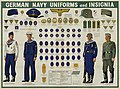 WW2 German Navy Uniforms Insignia National emblem Badges Corps Specialist Seaman Machinist Officer Pronunciaction etc Newsmap Vol 1 No 46 3-8-1943 US Government National Archives NARA Unrestricted Public domain 26-nm-1-46 002 cropped.jpg