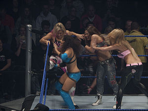 Battle royal (professional wrestling) - WWE Divas competing during a battle royal at a house show in 2009