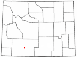 Location of Point of Rocks, Wyoming