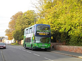 South Notts Bus Company - Nottingham City Transport Scania OmniDekka in Gotham in September 2011