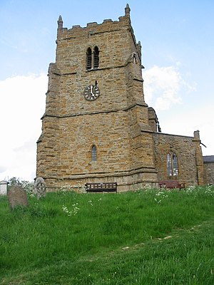 Walesby, Lincolnshire - Image: Walesby Ramblers Church view from west 01