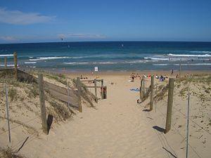 Wanda Beach - View of Wanda Beach looking east towards Bate Bay