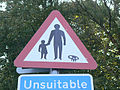 Warning to Pedestrians and ... ^ - geograph.org.uk - 1473309.jpg