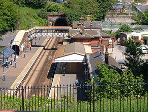 St Leonards Warrior Square railway station - Image: Warriors Squarelookdown