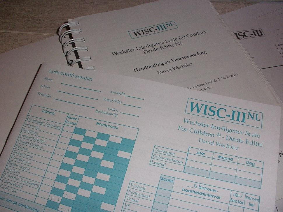 Wechsler Intelligence Scale for Children WISC-III NL