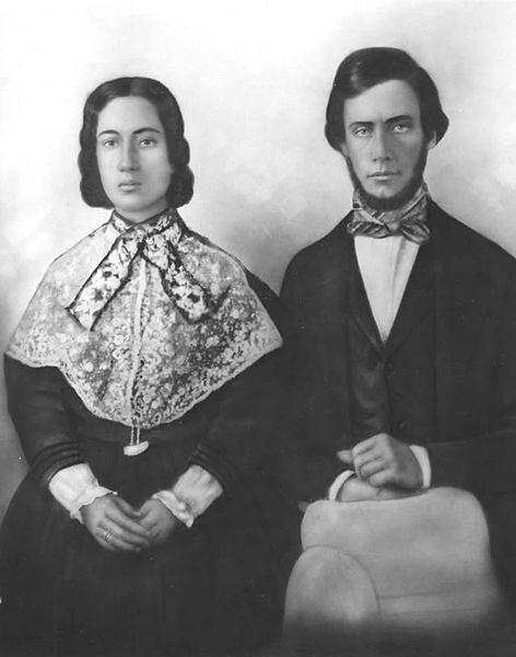 File:Wedding portrait of Mr. and Mrs. Charles Reed Bishop, June 4, 1850 (detailed).jpg