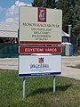 Welcome sign, Route 1, 2017 Mosonmagyaróvár.jpg