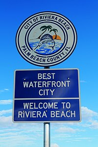 Welcome to Riviera Beach Florida Sign (44179413804).jpg