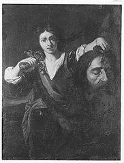 David mit dem Haupt des Goliath (?)