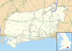 Mapa lokalizacyjna West Sussex