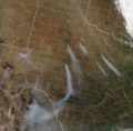 West Texas wildfires satellite Apr 15 2011.png