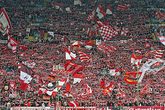 "1. FC Kaiserslautern - The ""Westkurve"" in April 2011"