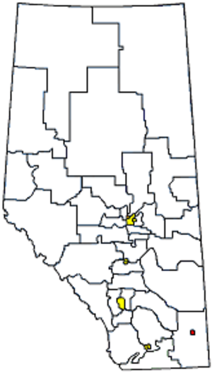 Medicine Hat (provincial electoral district) - Image: Whereismedicinehat