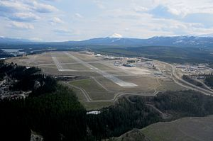 Erik Nielsen Whitehorse International Airport - Image: Whitehorse Airport, Yukon Territory