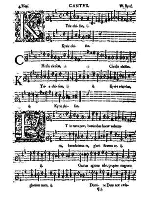 """Mass for Four Voices - Front cover of the """"Kyrie Eleison"""" from the Mass for Four Voices"""