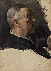 Portraitstudie Alexander Conze. Entwurf zu dem verschollenen Gemälde \