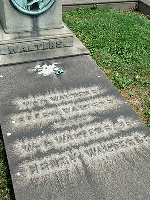 William Thompson Walters - Image: William Thompson Walters Gravestone Detail