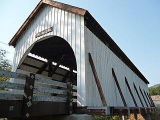 Wimer Bridge covered bridge in Oregon, USA