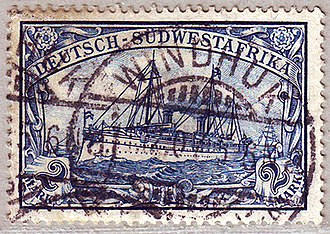 Windhoek - Stamps for German South West Africa postmarked Windhuk