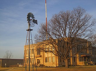 Sterling City, Texas - Image: Windmill at courthouse, Sterling City, TX IMG 1404
