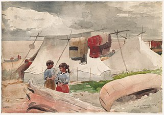 Winslow Homer - Indian Camp, Roberval, P.Q.jpg
