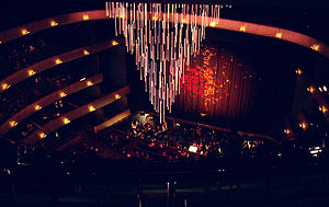 Margot and Bill Winspear Opera House - Auditorium and chandelier during opening night