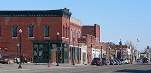 Wisner, Nebraska - Downtown Wisner: northeast side of Avenue E
