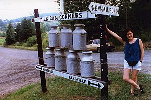 Susquehanna County, Pennsylvania - Milk Can Corners in Hallstead