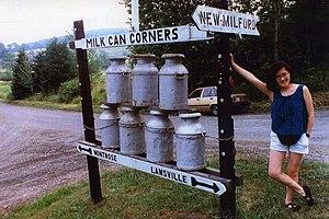 Milk churn - Milk Can Corners in Hallstead, Pennsylvania.
