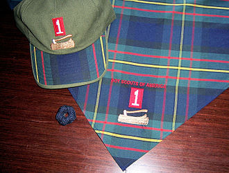 Uniform and insignia of the Boy Scouts of America - Image: Wood badge regalia 2
