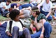 Zwei Hippies beim Woodstock Festival (1969)