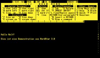 WordStar - WordStar 3 under CP/M