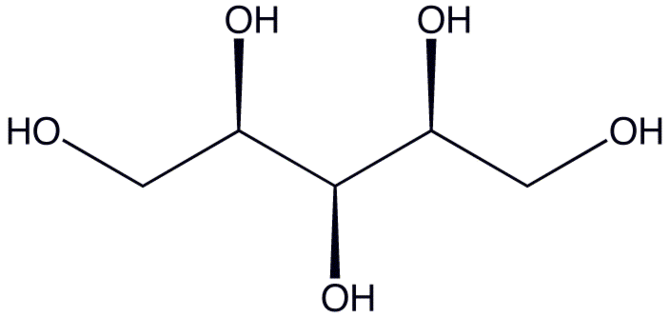 English: Chemistry - structure of xylitol