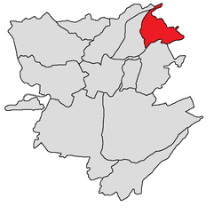 Avan district shown in red