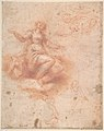 Young Woman on a Cloud with Three Figures (recto); Studies of an Old Man and a Hand (verso) MET DP809795.jpg