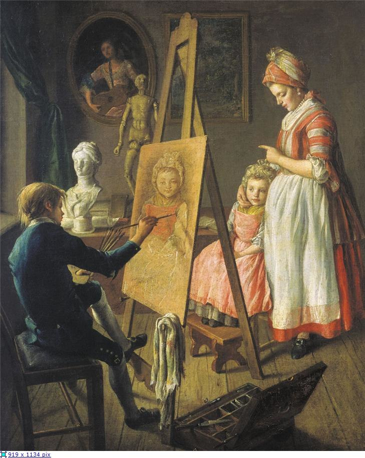 Young painter by Ivan Firsov (1760s)