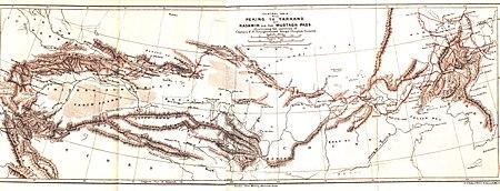 Younghusband PekingToYarkand Map